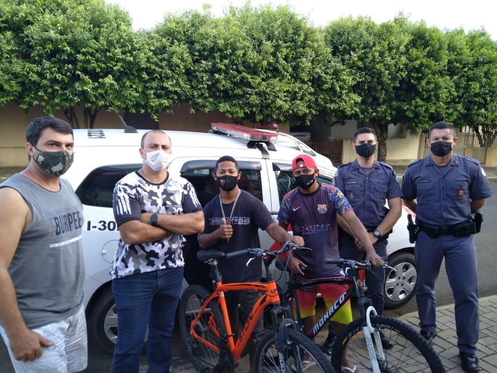 Polícia Militar recupera bicicleta roubadas, com auxílio das câmeras de segurança. Foto: Divulgação.