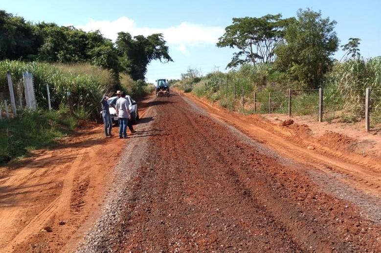 Trecho de estrada rural recuperado. Foto: Divulgação.